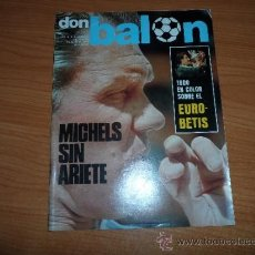 Coleccionismo deportivo: DON BALON Nº 91 JUNIO 1977 REPORTAJE COLOR REAL BETIS CAMPEON DE LA COPA DEL REY . Lote 38430963