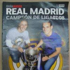Coleccionismo deportivo: REAL MADRID CAMPEON DE LIGA 07/08 - GUTI/RAUL/PEPE/IKER/HIGUAIN/SOLDADO . Lote 38387698