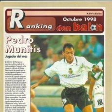 Coleccionismo deportivo: DON BALÓN: RANKING 1º Y 2º Y ESPECIAL 2ºB. OCTUBRE 1998. Lote 38418033