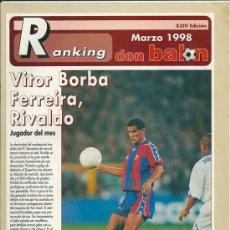 Coleccionismo deportivo: DON BALÓN: RANKING 1º Y 2º A, Y ESPECIAL 2º B. MARZO 1998. Lote 38418084