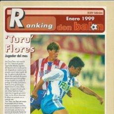 Coleccionismo deportivo: DON BALÓN: RANKING 1º Y 2º A, Y ESPECIAL 2º B. ENERO 1999. Lote 38418112