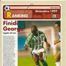 Coleccionismo deportivo: DON BALÓN: RANKING 1º Y 2º A, Y ESPECIAL 2º B. DICIEMBRE 1997. Lote 38418186