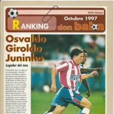 Coleccionismo deportivo: DON BALÓN: RANKING 1º Y 2º A, Y ESPECIAL 2º B. OCTUBRE 1997. Lote 38418224