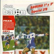 Coleccionismo deportivo: DON BALÓN: RANKING 1º Y 2º A, Y ESPECIAL 2º B. ABRIL 1995. Lote 38418242