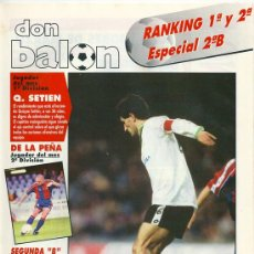 Coleccionismo deportivo: DON BALÓN: RANKING 1º Y 2º A, Y ESPECIAL 2º B. MARZO 1995. Lote 38418305
