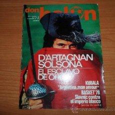 Coleccionismo deportivo: DON BALON Nº 110 1977 REPORTAJE COLOR SOLSONA ESPAÑOL KEMPES VALENCIA STIELIKE JENSEN REAL MADRID. Lote 38439360