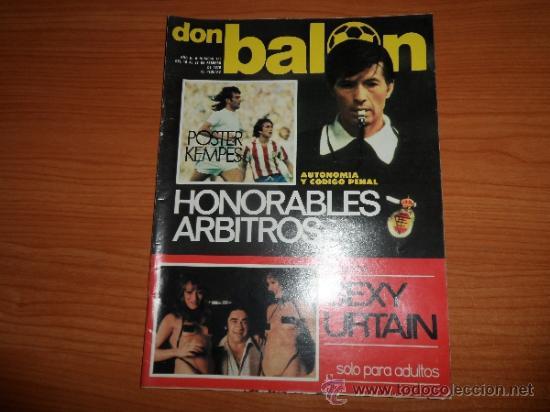 DON BALON Nº 123 1977 REPORTAJE COLOR URRUTICOECHEA REAL SOCIEDAD POSTER CENTRAL KEMPES VALENCIA (Coleccionismo Deportivo - Revistas y Periódicos - Don Balón)