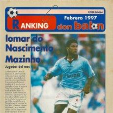 Coleccionismo deportivo: RANKING DON BALÓN 1º Y 2º A Y ESPECIAL 2º B. FEBRERO 1997. Lote 38462789