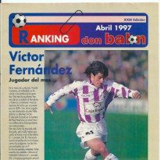 Coleccionismo deportivo: RANKING DON BALÓN 1º Y 2º A Y ESPECIAL 2º B. ABRIL 1997. Lote 38462819