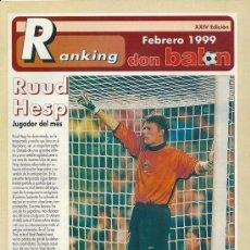 Coleccionismo deportivo: RANKING DON BALÓN 1º Y 2º A Y ESPECIAL 2º B. FEBRERO 1999. Lote 38462940