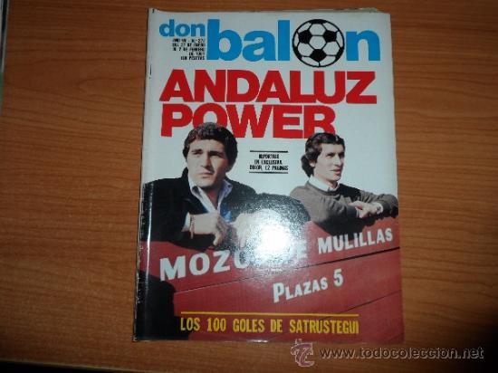 DON BALON Nº 277 1981 SATRUSTEGUI REAL SOCIEDAD GORDILLO BETIS MONTERO SEVILLA (Coleccionismo Deportivo - Revistas y Periódicos - Don Balón)