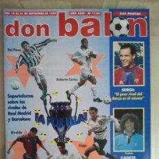 Coleccionismo deportivo: DON BALÓN Nº 1144 (SEPTIEMBRE 1997). SÚPER INFORME DE LOS RIVALES DE REAL MADRID Y BARCELONA. Lote 38536748