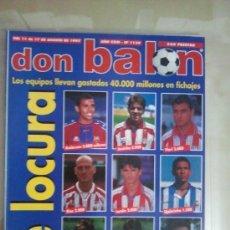 Coleccionismo deportivo: DON BALÓN Nº 1139 (AGOSTO 1997). DE LOCURA, LOS EQUIPOS LLEVAN GASTADOS 40.000 MILLONES EN FICHAJES. Lote 38537032