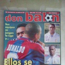 Coleccionismo deportivo: DON BALÓN Nº 1128 (JUNIO 1997). SUS EQUIPOS SE JUEGAN LA LIGA Y ELLOS SE LO PIERDEN. Lote 38537259