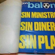 Coleccionismo deportivo: REVISTA DON BALON 1975 DEL NUM 11 AL 20, TOMO ENCUARDERNADO,. Lote 38548349