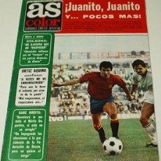Coleccionismo deportivo: AS COLOR- Nº 306 -29 MARZO 1977-CON SU POSTER DE MEJOR DELANTERA R.M.. ORIGINAL -LEER. Lote 38759465