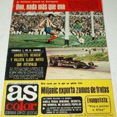 Coleccionismo deportivo: AS COLOR- Nº 312 -10 MAYO 1977-CON SU POSTER RACING C. SANTANDER.. ORIGINAL -LEER. Lote 38759515