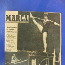 Colecionismo desportivo: MARCA. Nº 963/ 16 MAYO 1961. PORTADA JAIME BERENGUER CAMPEON ESPAÑOL DE GIMNASIA FRENTE A FRANCIA.. Lote 38798385
