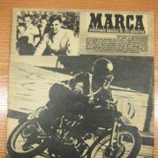 Coleccionismo deportivo: MARCA Nº647/26 ABRIL 1955. PORTADA MOTOCICLISMO ATORRASAGASTI CAMPEON DE 125 CC.. Lote 38843383