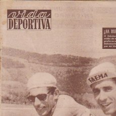 Coleccionismo deportivo: REVISTA DEPORTIVA VIDA DEPORTIVA 4 ENERO 1960. Lote 38899125