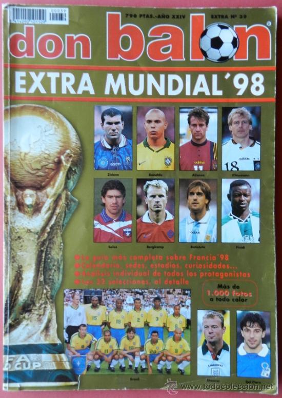 EXTRA DON BALON MUNDIAL FRANCIA 98 - REVISTA ESPECIAL GUIA COPA DEL MUNDO 1998 - (Coleccionismo Deportivo - Revistas y Periódicos - Don Balón)