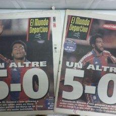 Coleccionismo deportivo: MUNDO DEPORTIVO - BARÇA MADRID 5-0 - DOS PORTADAS DIFERENTES - ROMARIO - 9 ENERO 1994. Lote 38977796