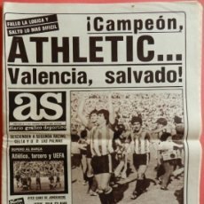 Coleccionismo deportivo: DIARIO AS ATHLETIC CLUB BILBAO CAMPEON LIGA 82/83 - VALENCIA CF SALVADO - ALIRON 1982/1983 - . Lote 38987192