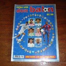 Coleccionismo deportivo: EXTRA LIGA FUTBOL - DON BALON 97-98. Lote 39039683