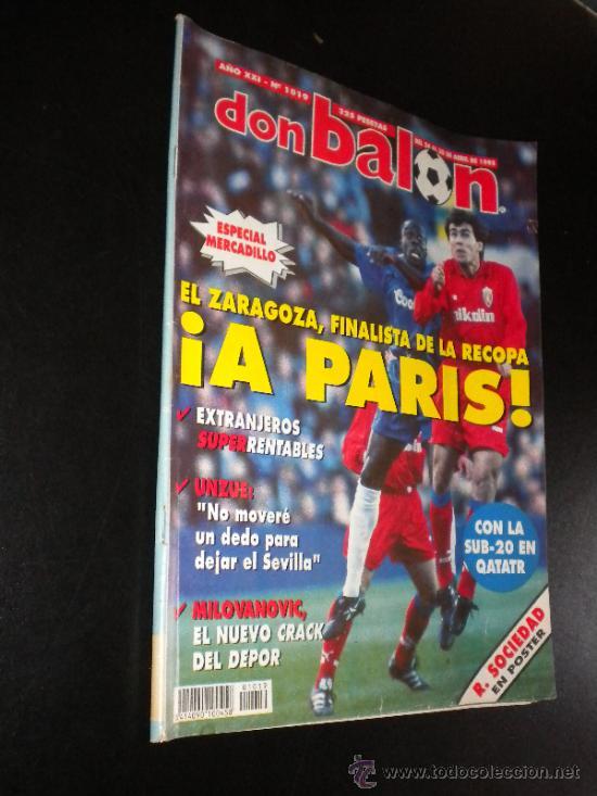 REVISTA FÚTBOL DON BALÓN Nº 1019 ABRIL 1995 POSTER R. SOCIEDAD 94-95 (Coleccionismo Deportivo - Revistas y Periódicos - Don Balón)
