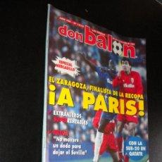 Coleccionismo deportivo: REVISTA FÚTBOL DON BALÓN Nº 1019 ABRIL 1995 POSTER R. SOCIEDAD 94-95. Lote 39056165