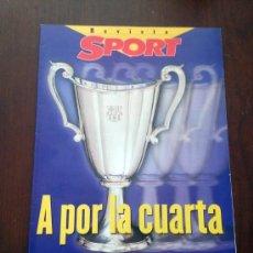 Coleccionismo deportivo: REVISTA SUPLEMENTO SPORT A POR LA CUARTA FINAL RECOPA BARCELONA PSG AÑO 1997. Lote 39067179