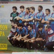 Coleccionismo deportivo: POSTER CAMPEON RECOPA FC BARCELONA 1989 - DON BALON - DIFICIL DE ENCONTRAR. Lote 39067713