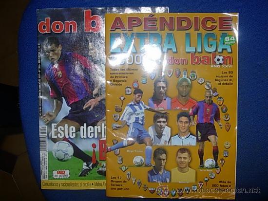 DON BALON EXTRA APENDICE LIGA 2000-2001 (Coleccionismo Deportivo - Revistas y Periódicos - Don Balón)