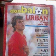 Coleccionismo deportivo - Revista Don Balon Donbalon Urban el misil de la liga nº 797 1991 64 pag - 39285871