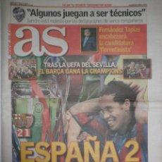 Coleccionismo deportivo: DIARIO AS - FC BARCELONA CAMPEON CHAMPIONS LEAGUE - PARIS - MAYO 2006 - ARSENAL - COPA DE EUROPA. Lote 95547850
