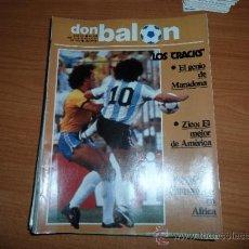Coleccionismo deportivo: DON BALON Nº 379 1982 PORTADA MARADONA REPORTAJE COLOR ZARAGOZA 82 -83. Lote 39365947