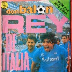 Coleccionismo deportivo: DON BALON - MARADONA NAPOLES CAMPEON LIGA ITALIA 86/87 - SCUDETTO CALCIO SERIE A 1986-1987 - . Lote 39529672