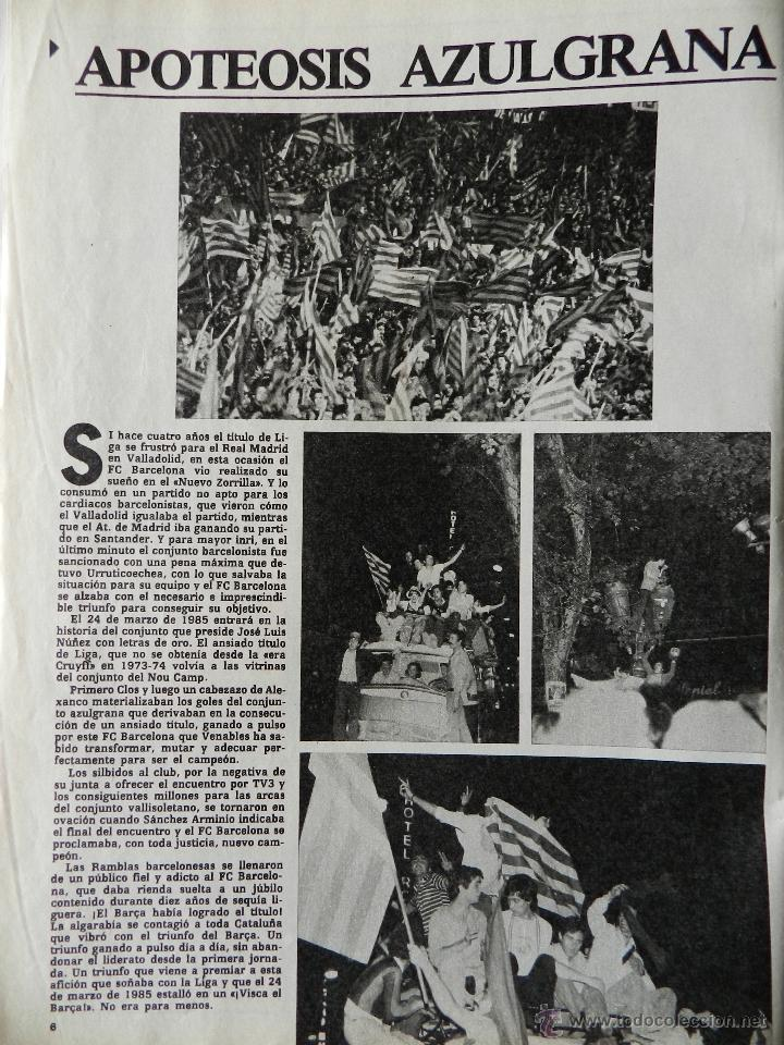 Coleccionismo deportivo: REVISTA DON BALON Nº 493 - FC BARCELONA CAMPEON LIGA 84/85 - FUTBOL BARÇA 1984-1985 - Foto 4 - 39529759