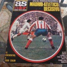 Coleccionismo deportivo: AS COLOR Nª 51 ( 9/5/1972) AT.MADRID=REAL MADRID. Lote 39310840