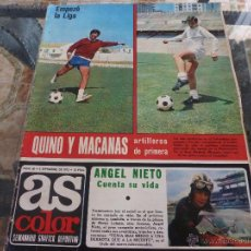 Coleccionismo deportivo: AS COLOR Nª 68 ( 5/9/1972) GENTO CUENTA SU VIDA CAP.7 Y FIN.EMPEZO LA LIGA. Lote 39312724