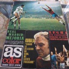 Coleccionismo deportivo: AS COLOR Nª 73 ( 10/10/1972) LIGA REAL MADRID=GRANADA. Lote 39313098