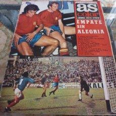 Coleccionismo deportivo: AS COLOR Nª 75 ( 24/10/1972) ESPAÑA=YUGOSLAVIA. Lote 39313543