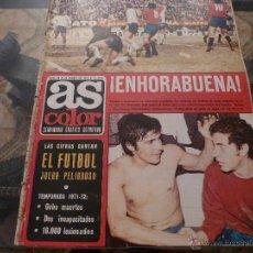 Coleccionismo deportivo: AS COLOR Nª 88 ( 23/1/1973)GRECIA=ESPAÑA Y CUENTA SU VIDA S.BERNABEU CAP 5 FINAL. Lote 39316435