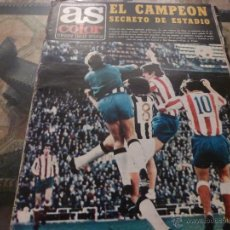 Collectionnisme sportif: AS COLOR Nª 98 ( 3/4/1973) LIGA AT.MADRID=CASTELLON Y OVIEDO=R.MADRID. Lote 39316906
