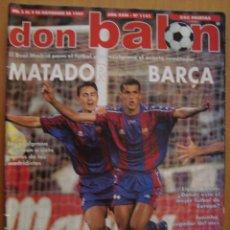 Coleccionismo deportivo: REVISTA DON BALON REAL MADRID 2 BARCA 3 LIGA 1997/98. Lote 39434051