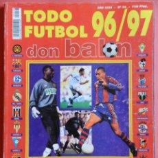 Coleccionismo deportivo: EXTRA DON BALON TODO FUTBOL 96-97 - GUIA RESUMEN TEMPORADA LIGA 1996-1997 - . Lote 39491993
