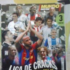 Coleccionismo deportivo: -MUNDO DEPORTIVO -LIGA DE CRACKS 2007-2008. Lote 39530945