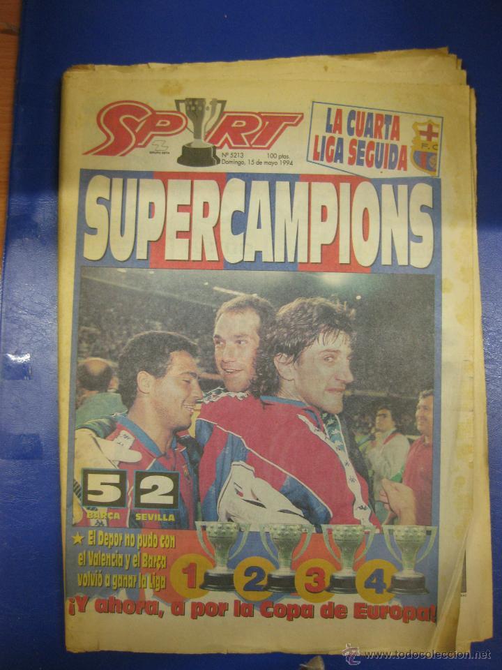 diario sport 15 mayo 1994. supercampions. barça - Comprar Periódicos ...