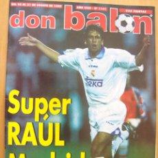 Coleccionismo deportivo: REVISTA DON BALON REAL MADRID CAMPEON SUPERCOPA DE ESPAÑA 1997. Lote 39590599