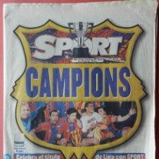 Coleccionismo deportivo: DIARIO SPORT FC BARCELONA CAMPEON LIGA 1997-1998 - BARÇA CAMPIONS 97/98 - . Lote 39697489